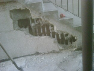photo of wall damage in toronto